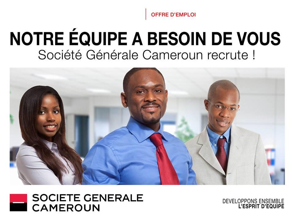 Cameroun Offres Emplois Recrutement SOCIÉTÉ GÉNÉRALE